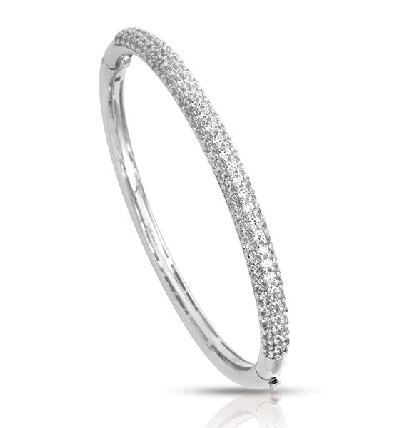 Belle e'toile Pave White Bracelet, Medium (83151)