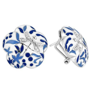 Belle e'toile Porcelain Blue Earrings (81317)