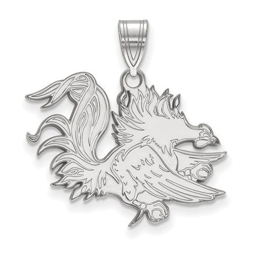 Sterling Silver LogoArt Officially Licensed University Of South Carolina Large Pendant