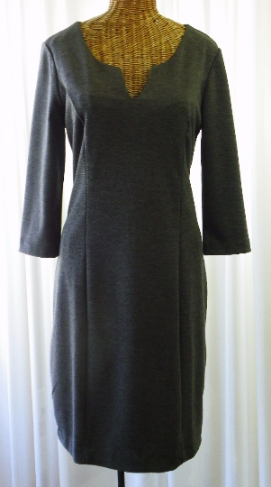 Banana Republic Rayon Charcoal Day Dress Size 8 - The Wicker Form - 1