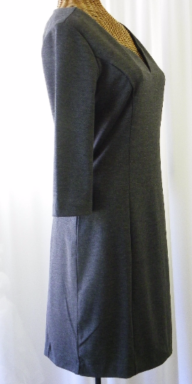 Banana Republic Rayon Charcoal Day Dress Size 8 - The Wicker Form - 2
