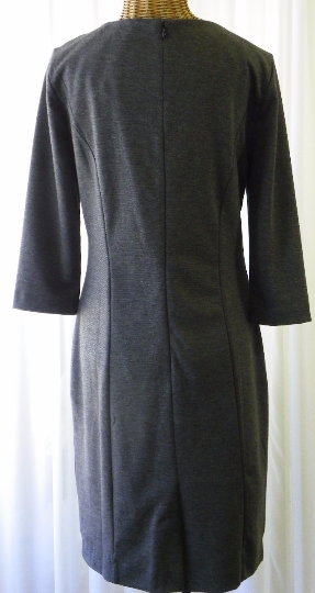 Banana Republic Rayon Charcoal Day Dress Size 8 - The Wicker Form - 3