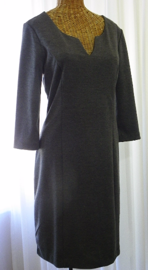 Banana Republic Rayon Charcoal Day Dress Size 8 - The Wicker Form - 4