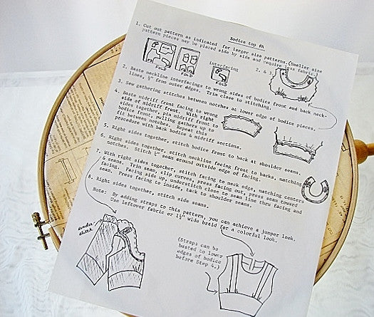 Bodice Pattern by Docie Doe Size 12 Uncut Sewing Supplies - The Wicker Form - 2