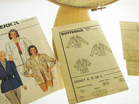 Vintage Fast Easy Butterick Misses Jacket 6463 - The Wicker Form - 2