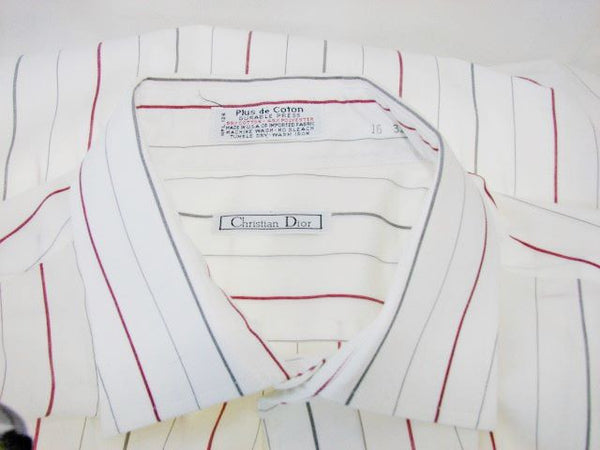 Christian Dior Men's Striped Long Sleeve Shirt 16-33 - The Wicker Form - 2