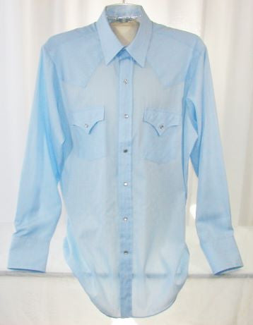 Ely Cattleman Shirt Pearl Snap Buttons 15/33 Men's - The Wicker Form - 1