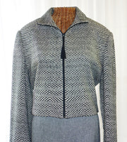 Bolero Jacket by Emil Rutenberg Hand Woven Silk Tweed Unworn Apparel - The Wicker Form - 2