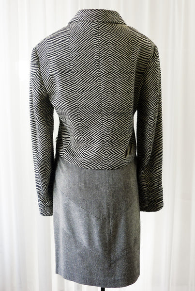 Bolero Jacket by Emil Rutenberg Hand Woven Silk Tweed Unworn Apparel - The Wicker Form - 3