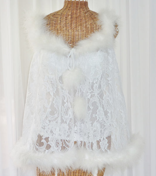 Faris Lace Marabou Feather Robe 1X - The Wicker Form - 5
