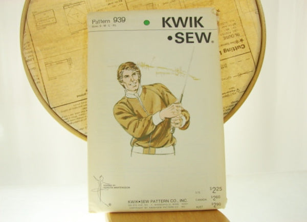 Vintage KWIK SEW Mens Boho Jacket Number 939 Sewing Supplies - The Wicker Form - 4