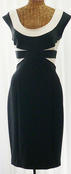 Vintage Bodycon Dress Designer Maggy London Black - The Wicker Form - 1
