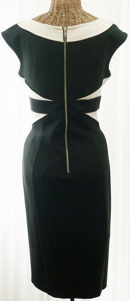 Vintage Bodycon Dress Designer Maggy London Black - The Wicker Form - 2