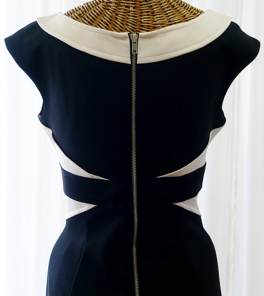 Vintage Bodycon Dress Designer Maggy London Black - The Wicker Form - 5