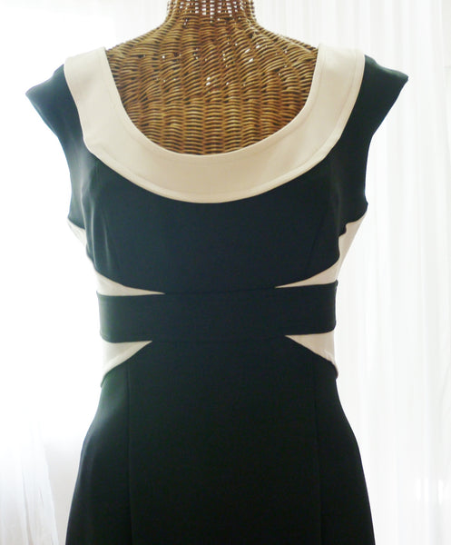 Vintage Bodycon Dress Designer Maggy London Black - The Wicker Form - 4