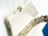 Clutch Purse Gold Lame - The Wicker Form - 4