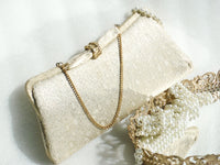 Clutch Purse Gold Lame - The Wicker Form - 1