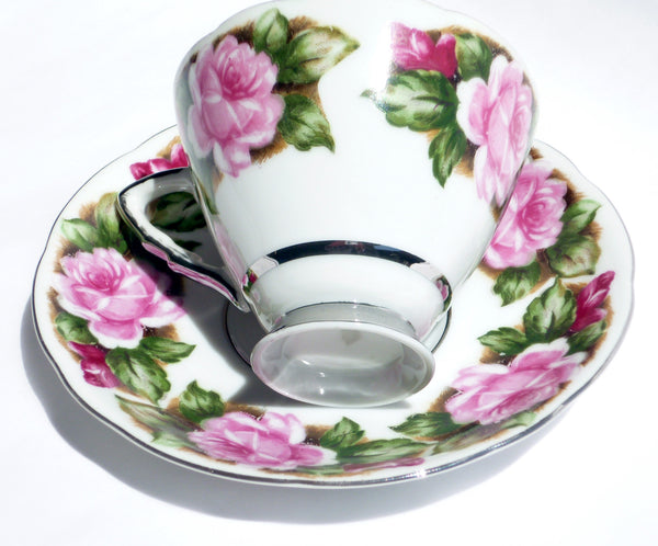 Vintage Translucent China Cup and Saucer Avon Shape China & Porcelain - The Wicker Form - 2