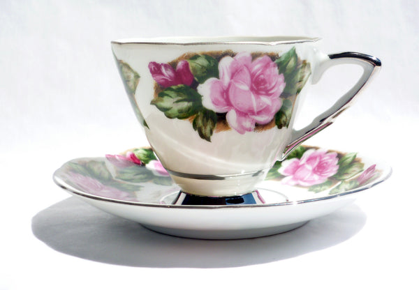 Vintage Translucent China Cup and Saucer Avon Shape China & Porcelain - The Wicker Form - 3
