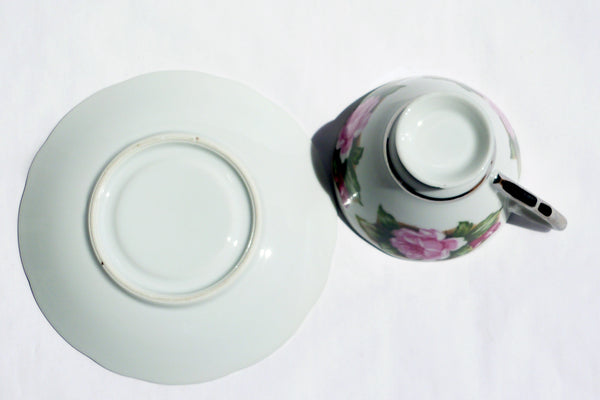Vintage Translucent China Cup and Saucer Avon Shape China & Porcelain - The Wicker Form - 6