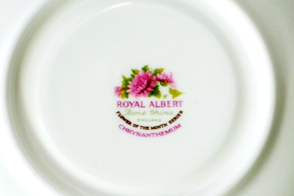 Royal Albert Bone China November Chrysanthemum China & Porcelain - The Wicker Form - 4