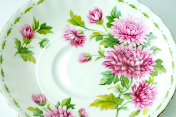 Royal Albert Bone China November Chrysanthemum China & Porcelain - The Wicker Form - 3