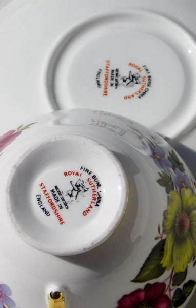 Royal Sutherland English China Teacup and Saucer China & Porcelain - The Wicker Form - 5