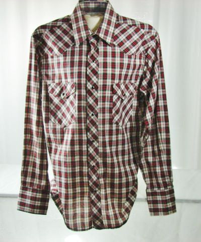 Rustler Long Sleeve Snap Button Shirt Large Men's - The Wicker Form - 1