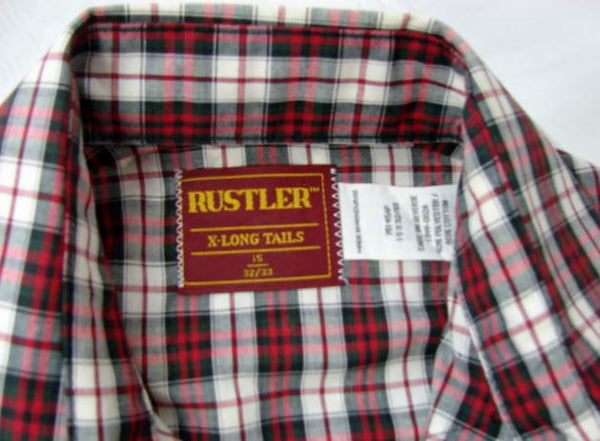 Rustler Long Sleeve Snap Button Shirt Large Men's - The Wicker Form - 6