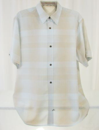Rusty Light Blue Stripe Dress Shirt Large Men's - The Wicker Form - 1
