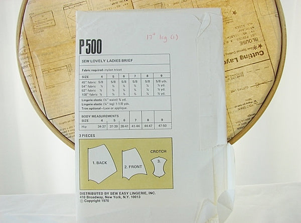 Sew Lovely P504 Ladies Flare Leg Panty Sealed Sewing Supplies - The Wicker Form - 2