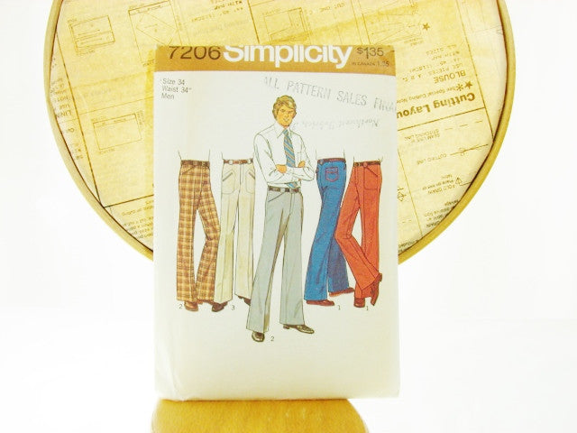 Simplicity Pattern 7206 Teen-Boys and Mens Pants Sewing Supplies - The Wicker Form - 1