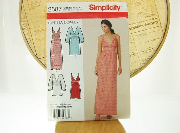 Simplicity Pattern 2587 Cynthia Rowley Dress Short To Maxi Sewing Supplies - The Wicker Form - 1