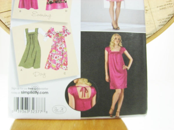 Simplicity Pattern 2722 Womens Loose Fit Dress Jumper Sewing Supplies - The Wicker Form - 3
