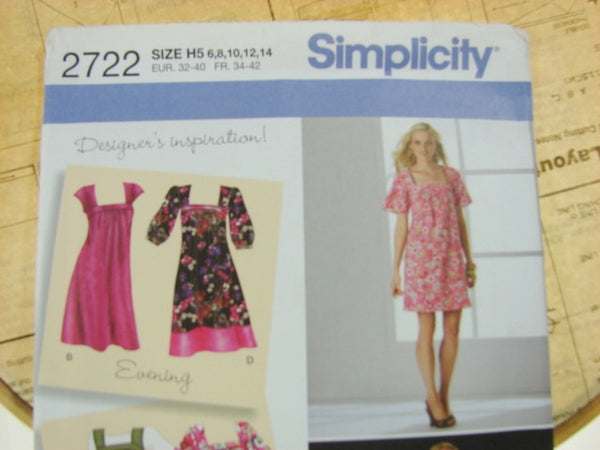 Simplicity Pattern 2722 Womens Loose Fit Dress Jumper Sewing Supplies - The Wicker Form - 2