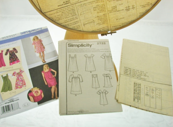 Simplicity Pattern 2722 Womens Loose Fit Dress Jumper Sewing Supplies - The Wicker Form - 4