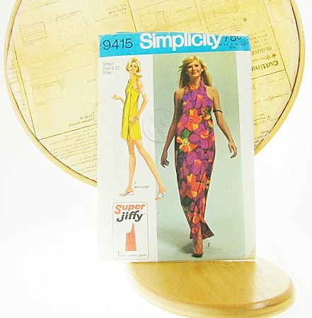 Simplicity Patterns Vtg 9415 Super Jiffy Wrap Maxi Sewing Supplies - The Wicker Form - 1