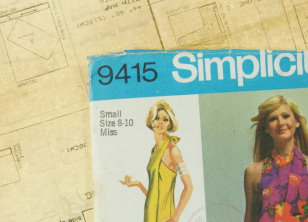 Simplicity Patterns Vtg 9415 Super Jiffy Wrap Maxi Sewing Supplies - The Wicker Form - 3