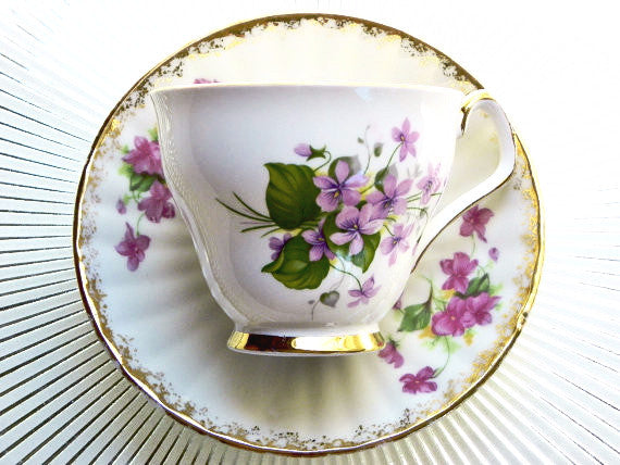 Society English Bone China Cup & Saucer - The Wicker Form - 1