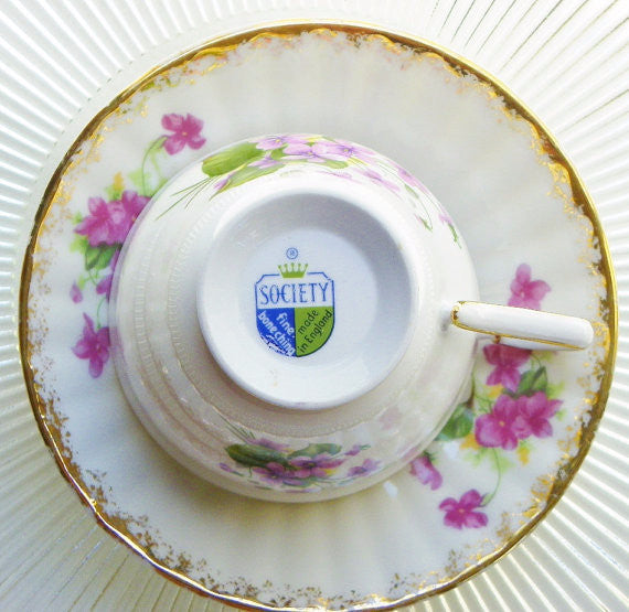 Society English Bone China Cup & Saucer - The Wicker Form - 4
