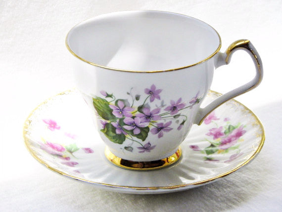 Society English Bone China Cup & Saucer - The Wicker Form - 2