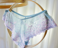 Wacoal Embrace Lace Bikini Powder Blue and Pink Large - The Wicker Form - 2