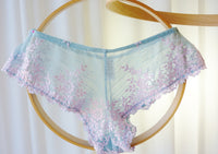 Wacoal Embrace Lace Bikini Powder Blue and Pink Large - The Wicker Form - 1