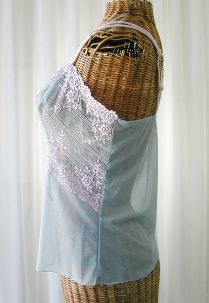 Wacoal Embrace Lace Camisole Powder Blue and Pink Large Free Ship - The Wicker Form - 3