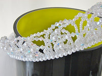 Bridal Crystal Tiara Veil Attached Blusher 2-Tier Bridal - The Wicker Form - 10