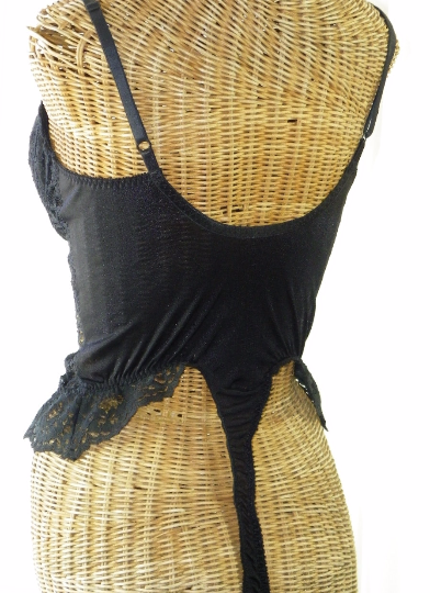 Lily Of France Black Sheer Lace Push Up Teddy - The Wicker Form - 2