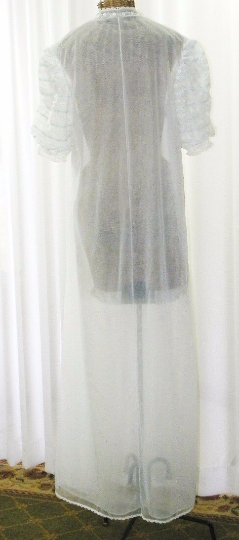 Vanity Fair Double Layer Chiffon Floor Length Peignoir Robe - The Wicker Form - 3