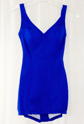 Catalina 1960s Royal Blue Swimsuit Unworn Sixties - The Wicker Form - 1