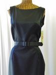 Huey Walters Black Satin Formal Pencil Dress Size 10 Apparel - The Wicker Form - 1