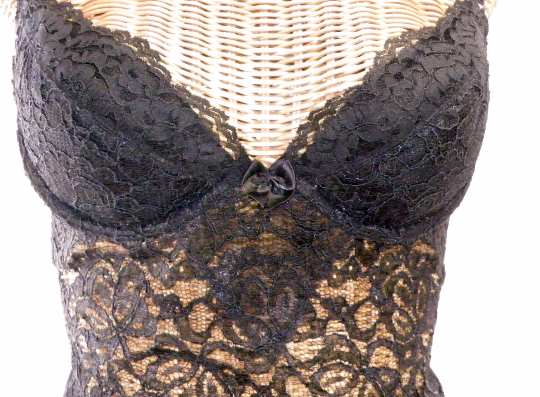 Lily Of France Black Sheer Lace Push Up Teddy - The Wicker Form - 3